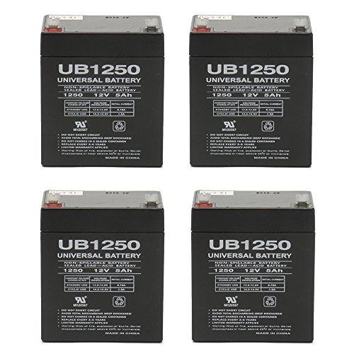 12V 5AH Sealed Lead Acid SLA Battery for Razor E100 E125 E150 E175 - 4 Pack