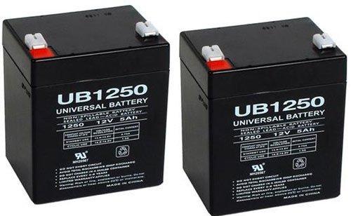 12V 5AH Sealed Lead Acid SLA Battery for UB1250 Trailer Break Away Kit - 2 Pack