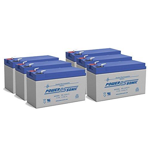 12V 72AH LP12-70 Maintenance-free Sealed Lead Acid SLA Battery - 6 Pack