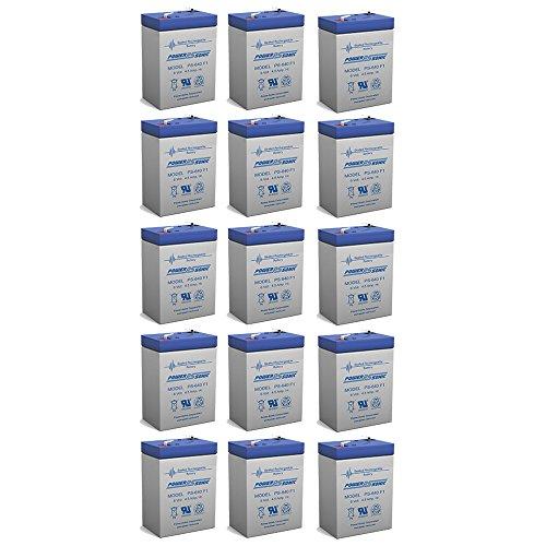 6V 45AH Rechargeable Sealed Lead Acid SLA Battery for Exit Lights - 15 Pack
