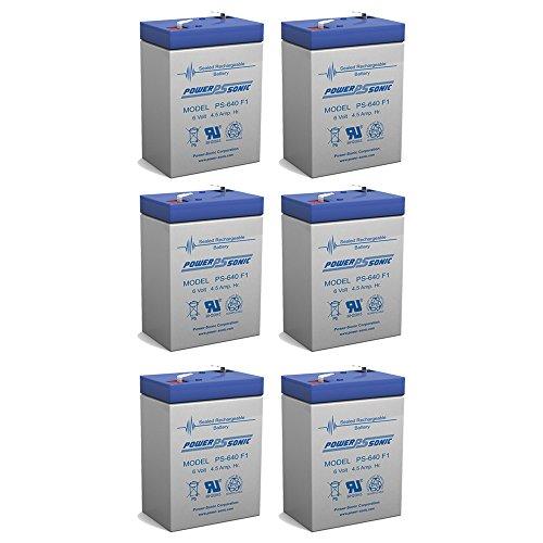 6V 45AH Rechargeable Sealed Lead Acid SLA Battery for Exit Lights - 6 Pack