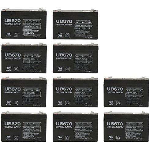 6V 72AH Sealed Lead Acid SLA Battery for UB670 DJW6-72 652007 MX06065 NP76 - 10 Pack