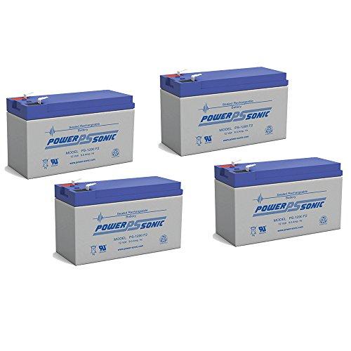 12V 9Ah PS-1265 DJW12-8 Rechargeable Sealed Lead Acid SLA Battery - 4 Pack