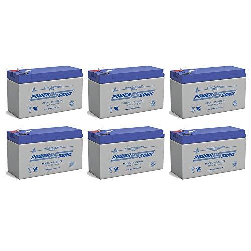 12V 9Ah PS-1265 DJW12-8 Rechargeable Sealed Lead Acid SLA Battery - 6 Pack