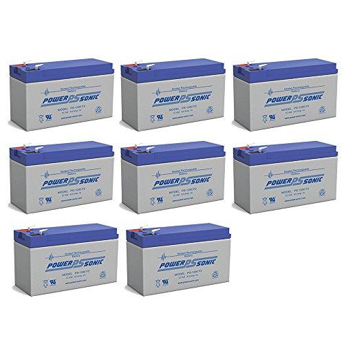12V 9Ah PS-1265 DJW12-8 Rechargeable Sealed Lead Acid SLA Battery - 8 Pack