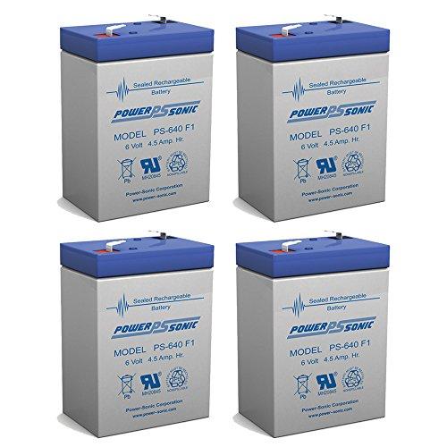 6 Volt 4AH Rechargeable Sealed Lead Acid SLA Battery 6 volt 4amp - 4 Pack
