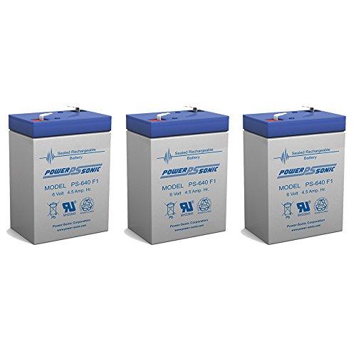 6V 45AH Rechargeable Sealed Lead Acid SLA Battery for Exit Lights - 3 Pack
