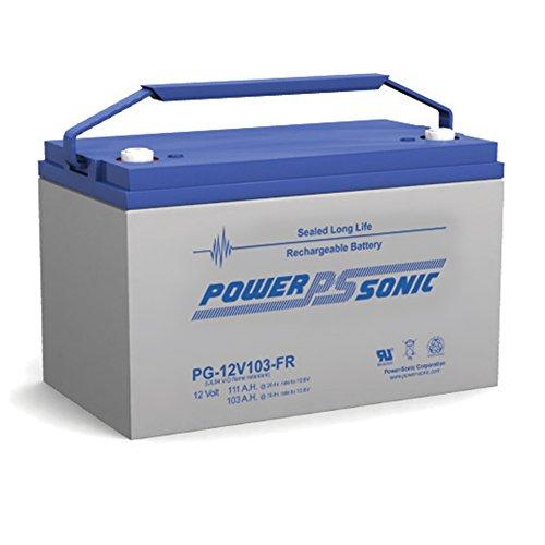 Power-Sonic PG-12V103 FR 12V 103AH Power-Guard Rechargeable Sealed Lead Acid Battery