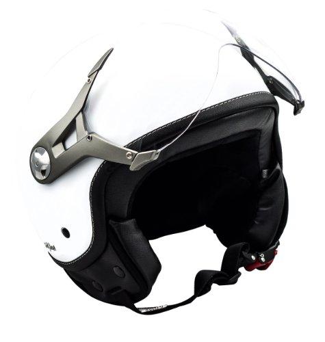 SOXON SP-325 snow - Jet vespa scooter helmet motorcycle cruiser white - Size L