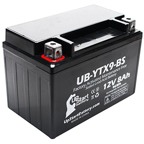 Replacement 2000 E-Ton CXL150 Yukon II 150CC Factory Activated Maintenance Free ATV Battery - 12V 8Ah UB-YTX9-BS