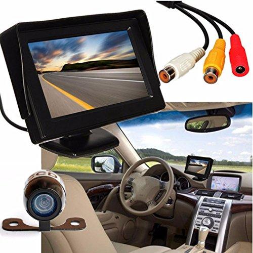NOMENI 43 LCD Car Rear View Monitor Night Vision Reverse Backup Camera Waterproof
