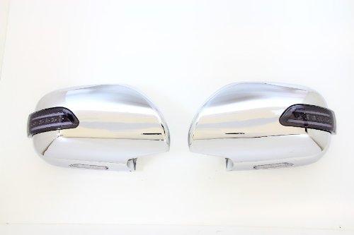 Valenti Jewel LED door mirror winker Hiace 200 series light smoked  chrome  white DMW-200SW-999