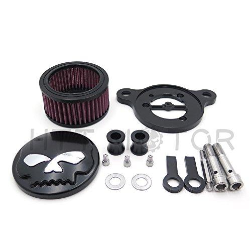 SMT MOTO- SMT GROUP Black Skull Eyes Air Cleaner Intake Filter System Kit For Harley Sportster XL883 XL1200 1988 1989 1990 1991 1992 1993 1994 1995 1996 1997 1998 1999 2010 2011 2012 2013 2014 2015