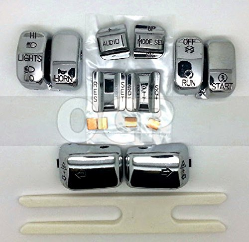 Chrome Switch Cap Kit For Harley Trike with Radio and Cruise Control 1996-2013