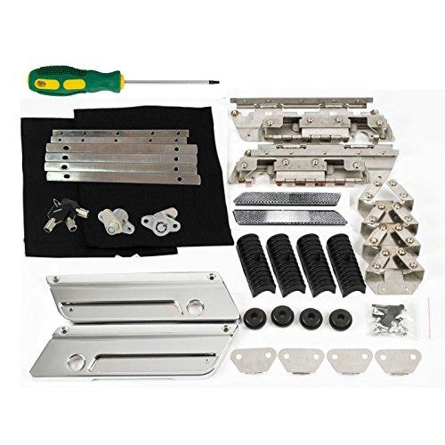 Saddlebags Hard bags Hardware Rubber kit Set Chrome Metal Latch Covers Lids Lock for Harley 93-13