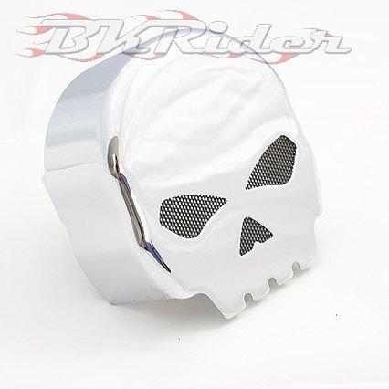Willy G Style Skull Chrome Horn Cover For Harley-Davidson
