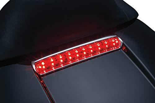 Kuryakyn 6706 Motorcycle Lighting Accessory Tour-Pak Lid Light Rear LED RunningTurn SignalBlinkerBrake Lights for 2014-19 Harley-Davidson Motorcycles Chrome