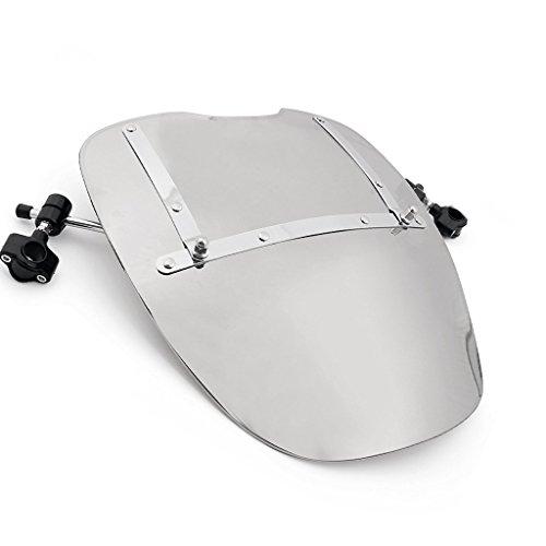 Universal 18x16 Windshield Windscreen For Honda Kawasaki Davidson Suzuki Yamaha Harley chrome