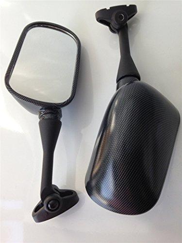 HK MOTO- Oem Aftermarket Mirrors Fit For Honda Cbr 600 F4 F4I Cbr600Rr 1999-2006 Carbon