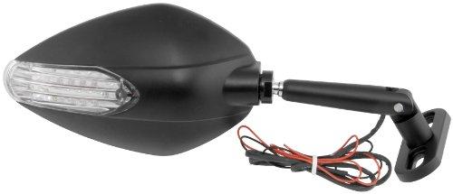 BikeMaster Candy Drop Sport Bike Mirror - Black with Turn Signals KS-A52B