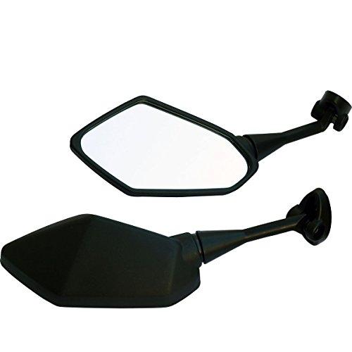 One Pair Black Sport Bike Mirrors for 2012 Kawasaki Ninja ZX10R ZX1000J