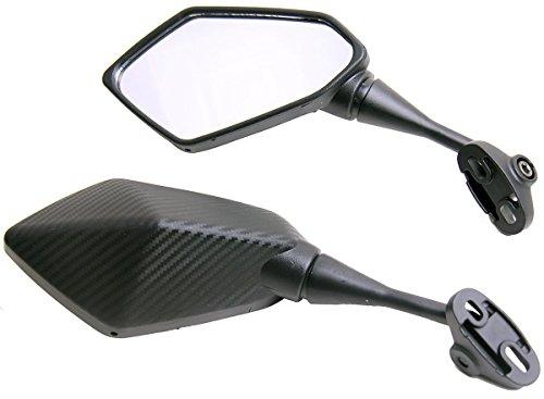 One Pair Carbon Fiber look Sport Bike Mirrors for 2003 Kawasaki Ninja ZX6R ZX636C