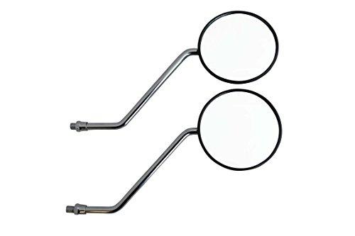 Pair of Easy Fit Basic Simple M10 Round Black Motorcycle Motorbike Mirrors