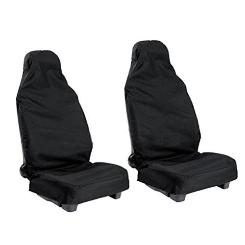 WINOMO Car Seat Cover Protector Waterproof Nylon Black Universal Pack of 2