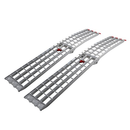 75 HD 4-Beam Loading Ramps 1500 lb Heavy Duty Aluminum Arched ATV UTV Ramp for Motorcycle Pack of 2