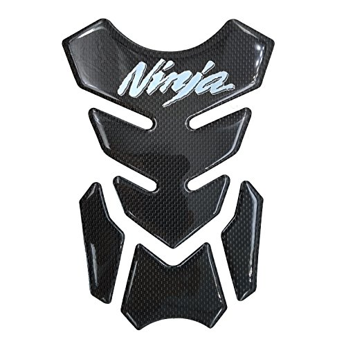 Real Carbon Fiber Chrome 3D Sticker Vinyl Decal Emblem Protection Gas Tank Pad For KAWASAKI Ninja 250 300 ALL Series
