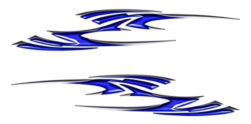 Blue Motorcycle Decal Sticker pickup Truck Car vehicle sticker set Go Cart Golf Cart 43 tall x 24 long