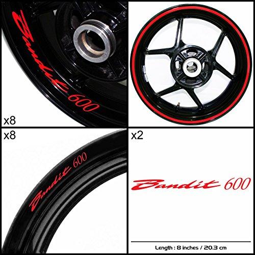 Stickman Vinyls Suzuki Bandit 600 Motorcycle Decal Sticker Package Gloss Red Graphic Kit
