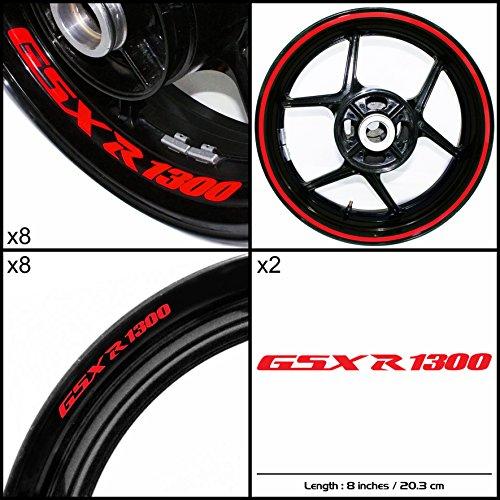 Stickman Vinyls Suzuki GSXR 1300 Hayabusa Motorcycle Decal Sticker Package Gloss Red Graphic Kit