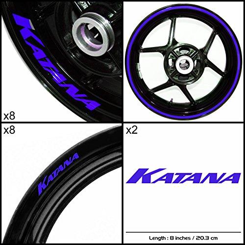Stickman Vinyls Suzuki Katana Motorcycle Decal Sticker Package Gloss Blue Graphic Kit