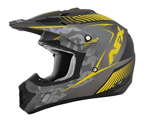 AFX FX-17 Factor Mens Motocross Helmets - GrayYellow - X-Small