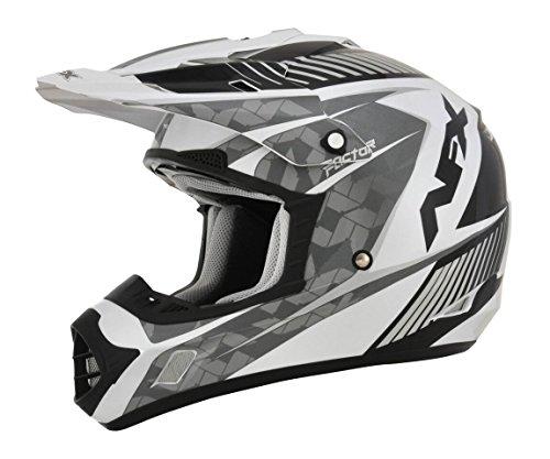AFX FX-17 Factor Mens Motocross Helmets - WhiteSilver - X-Small