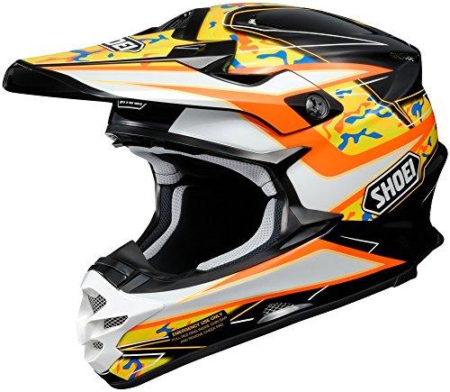 Shoei VFX-W Turmoil Mens Motocross Helmets - Orange - X-Large