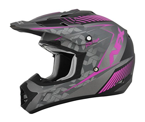 AFX FX-17 Factor Womens Motocross Helmets - PinkGray - Medium