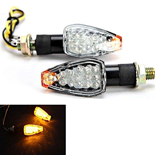 INNOGLOW Motorcycle Turn Signals 2pcs LED Bulb Indicators Motorbike Blinkers Amber Lamp Lights Fits Choppers Cruisers Touring Motorbike