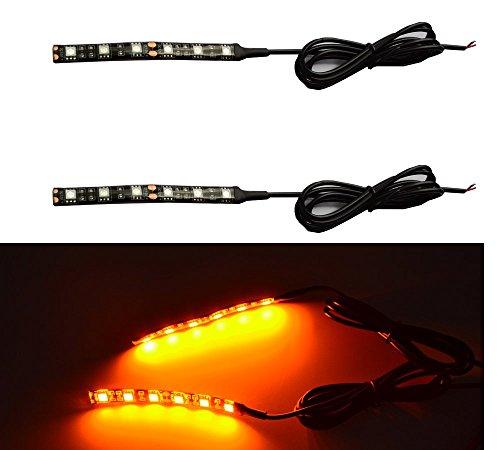 Universal 2pc 5050 Led Motorcycle Bike Amber LED Turn Signal Indicator Blinker with Total 12 Led