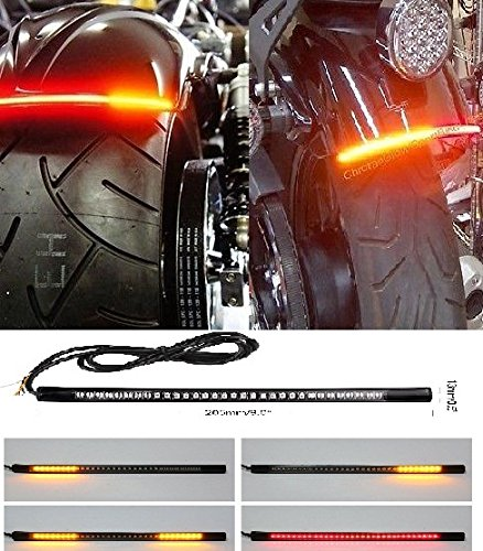 aegarage86 Motorcycle led turn signal tail brake license plate integrated light for aftermarket universal vehicle motorcycle and car