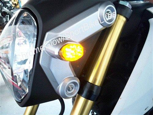 Honda Grom MSX125 Flush Mount Front LED Turn Signal Kit with LED Flasher Relay - Smoked Lens