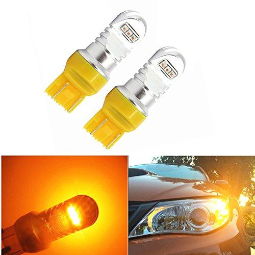 WLJH 2pcs Car Led Light Bulbs 30W 6000K Super Bright Amber T20 7440 7441 7443 7444 LED BulbsBack Up Reverse LightsTurn Signal LightsTail Lights for CHEVROLET AUDI BMW