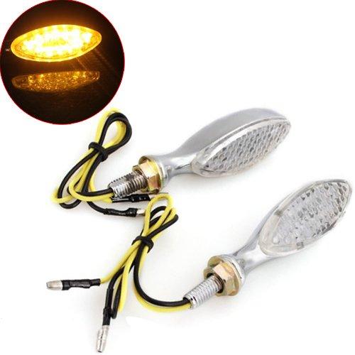 Motorcycle Signal Light - TOOGOOR2 PCS 03W LEDs 12V Motorcycle Scooter Turn Signal Lights DC 12V Chrome Yellow New