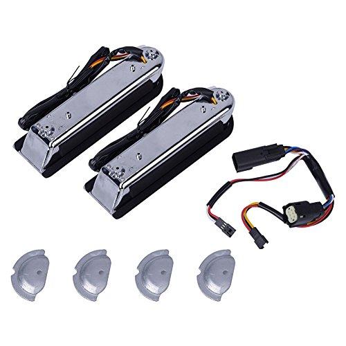Qiilu Motorcycle Rear Saddlebag Filler Decor Lamp Inserts Support RunBrakeTurn Signal LED Light