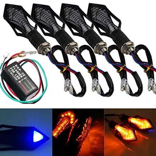 YRD TECH 4PCS 13 LED Universal Motorcycle Turn Signal Indicator Light  Flasher Relay