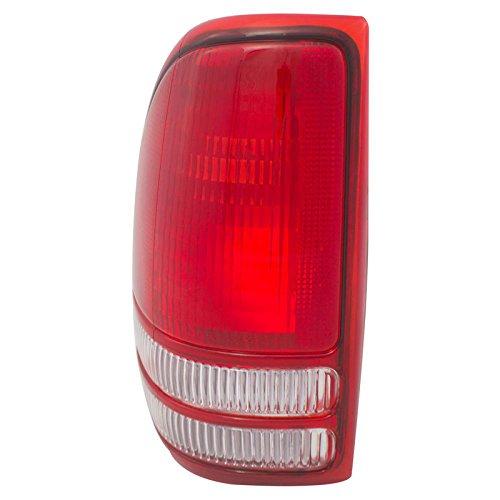 CarPartsDepot 97-04 Dodge Dakota Driver Tail Lamp CH2800126 Rear Brake Stop Light Lens Housing