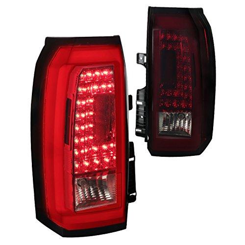 Chevy Tahoe Suburban LED Tail Lamps Turn Signal Rear Brake Lights Smoke Dark Red