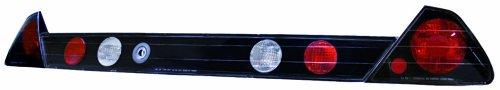 IPCW CWT-712BB3 Honda Accord 2-Door Bermuda Black Tail Lamp with Crystal Eyes and Garnish - 3 Piece