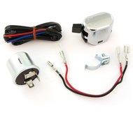 K&S Universal Turn Signal Wiring Kit - Relay  Wiring  Switch - Honda Kawasaki Suzuki Yamaha 78 Bars